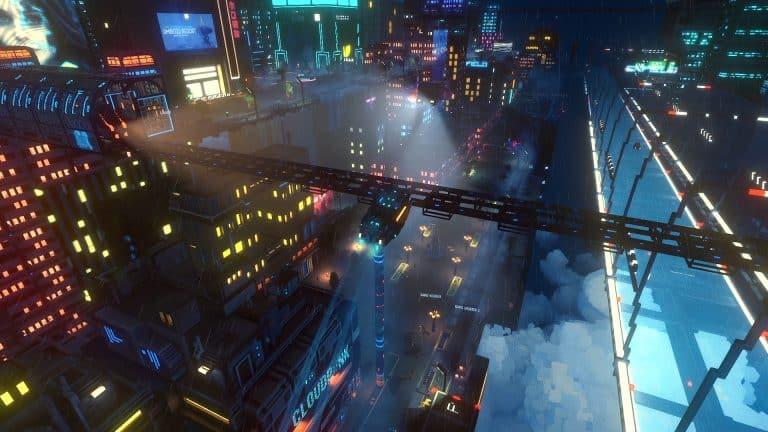 Imagen del videojuego indie Cloudpunk